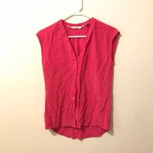 Max Studio Pink Top Blouse Silk Sleeveless 180c